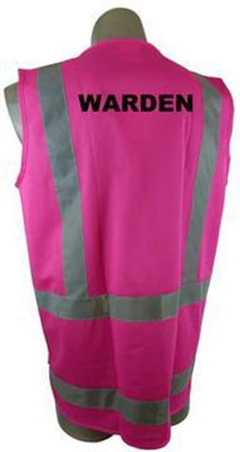 safety vest   day night pink printed