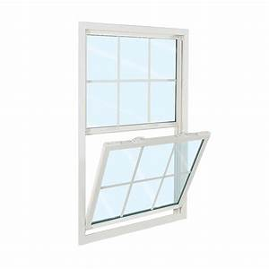 Vinyl windows vinyl double hung replacement windows for Single hung window