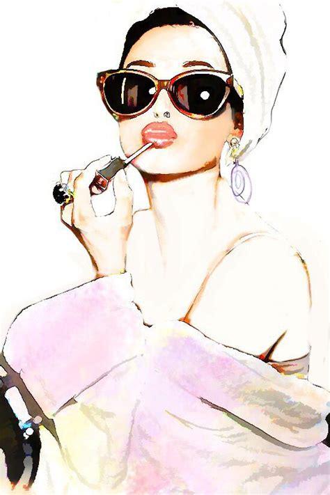 day   spa watercolor illustration wasserfarben