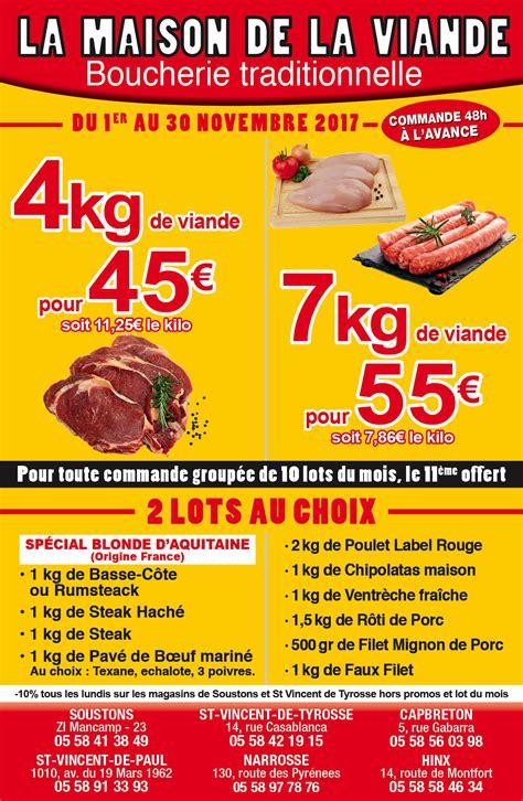 maison de la viande boucher soustons vente bœuf porc volaille boucherie de la maison de la viande