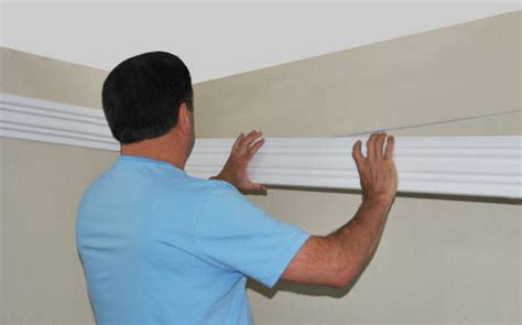 install led rope and indirect lighting in foam crown molding