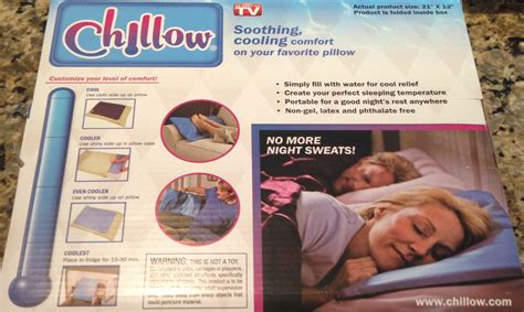 chillow pillow target as seen on tv chillow personal cooling pad who said