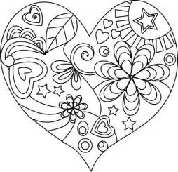 Love Heart Coloring Pages Mandalas