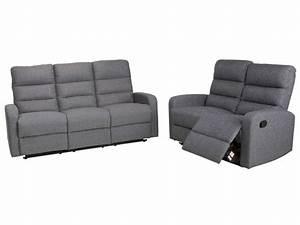 set de canape de relaxation manuel 2 3 places cielo With tapis chambre enfant avec ensemble housse de canapé et fauteuil pas cher