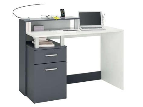 petit bureau informatique conforama bureau 120 cm oracle coloris blanc gris vente de bureau