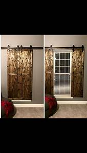 17 best images about barn doors on pinterest sliding With barn door window blinds