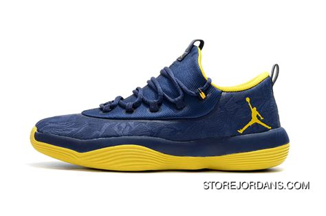 Free Shipping Jordan Superfly 2017 Low Deep Blueyellow