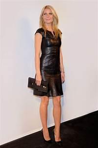 gwyneth paltrow hugo boss vogue paris With robe cuir femme