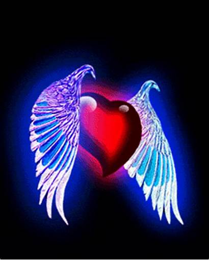 Heart Hearts Gifs Animated Animations Wings Giphy