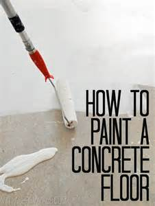 How to Paint Painted Concrete Floors
