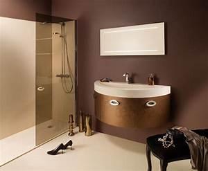 des meubles de salle de bains tout en rondeur With meuble salle de bain courbe