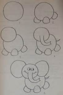 Little Kid Elephant Drawings