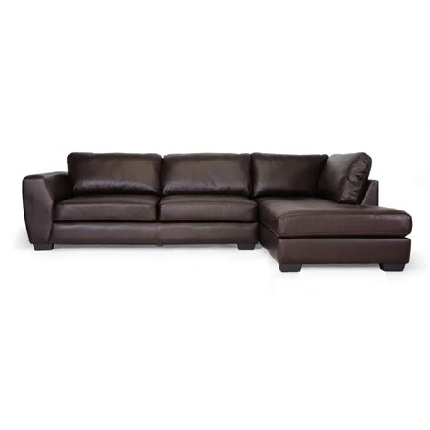 brown leather chaise sofa orland brown leather modern sectional sofa set with right