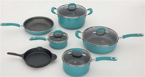pioneer woman cookware frontier folly consumer reports speckle piece aqua kitchen nonstick inexpensive consumerreports