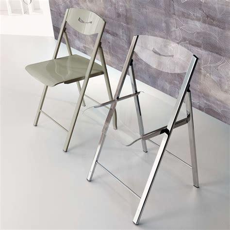 chaise pliante transparente ripiego chaise pliante moderne en métal et méthacrylate