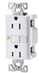 Ground Fault Circuit Interrupter Receptacle White