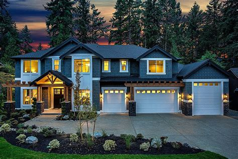 million newly built craftsman style home  bellevue wa homes   rich
