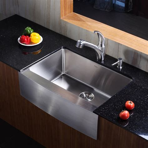 30 inch kitchen sinks kraus khf20030kpf2110sd20 30 inch stainless steel single 3867