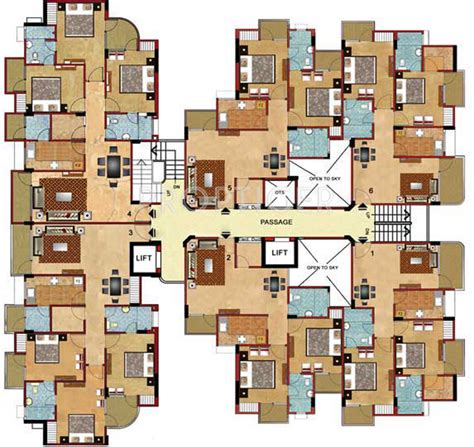 2d kitchen design 1065 sq ft 2 bhk 2t apartment for in chandak builders 1065