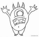 Monster Pages Coloring Colouring Printable sketch template