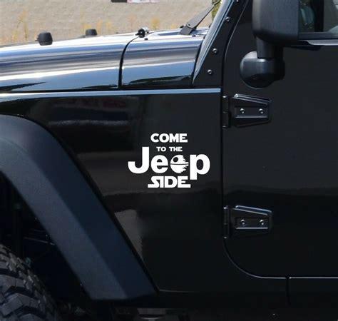 jeep side star wars dark side geek fun car