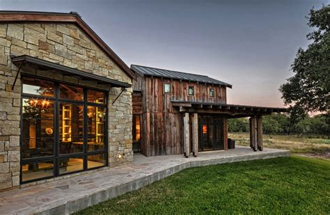 seaside home interiors modern rustic barn style retreat in hill country