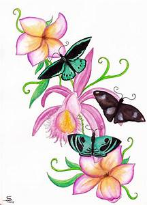 Flower And Butterfly Sketches - ClipArt Best