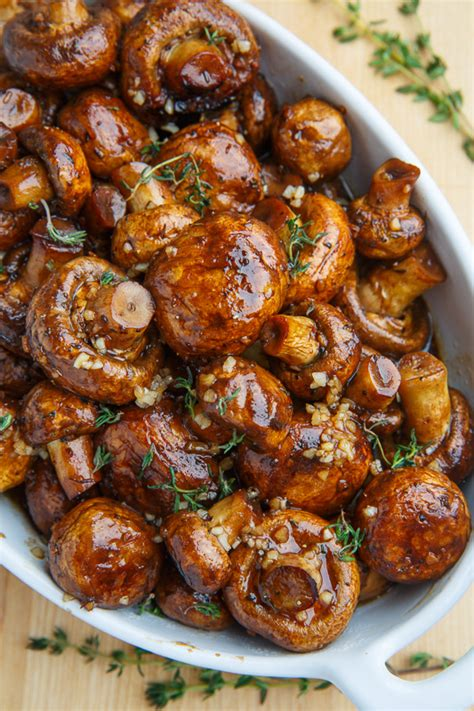 balsamic soy roasted garlic mushrooms  closet cooking