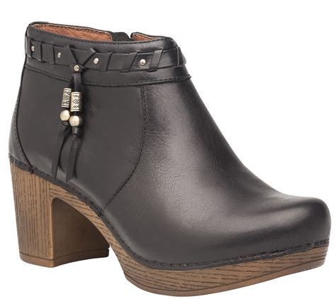 dansko leather ankle boots dabney page  qvccom