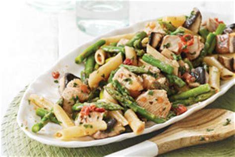 vinaigrette pour salade de pates asperges de l ontario et salade de p 226 tes au poulet avec vinaigrette piquante ontario terre