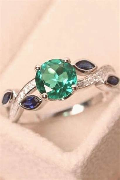 Emerald Rings Ring Engagement Diamond Unique Gemstone