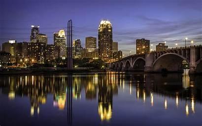 Usa Street Minneapolis Night Cities Paul Rivers