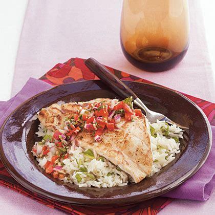 grouper recipes pan relish seared ginger sweet myrecipes fish