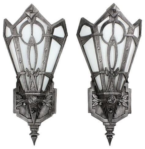 antique art deco lighting eclectic wall sconces