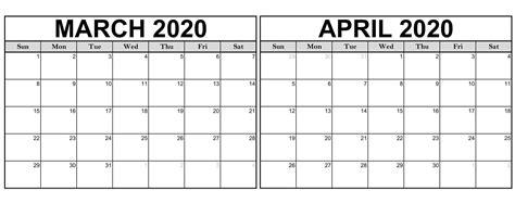 march april calendar  printable  calendars