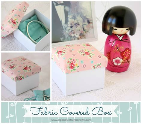 fabric covered box  spoonful  sugar