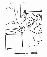 Coloring Cama Menino Bed Colorir Desenho Early Despertando Clipart Drawing Rise Imprimir Rhymes Despertador Mother Goose Nursery Tudodesenhos Clip Popular sketch template