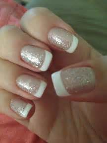 French Manicure Nails with Glitter