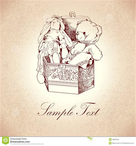 vintage box  toys stock vector image  invitation