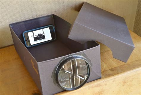 diy iphone projector build a cheapo photo projector using a phone shoebox and