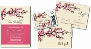 wedding cards and gifts cherry blossoms wedding With wedding invitation free japanese