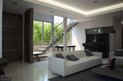 Modern Minimalist Cool Living Room