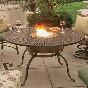 Tropitone Spectrum 55 U0026quot  Round Dining Fire Table