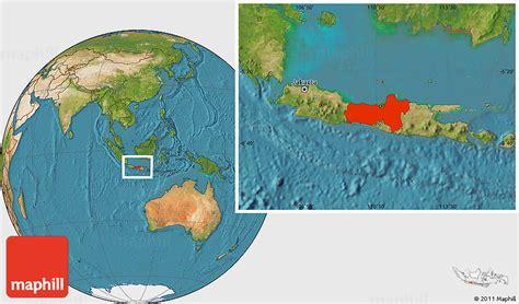 satellite location map  central java