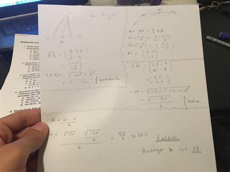 flaeche eines dreiecks bestimmen vektoren mathelounge