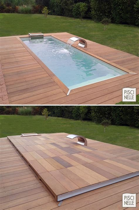 custom rolling deck fitted pools home design garden