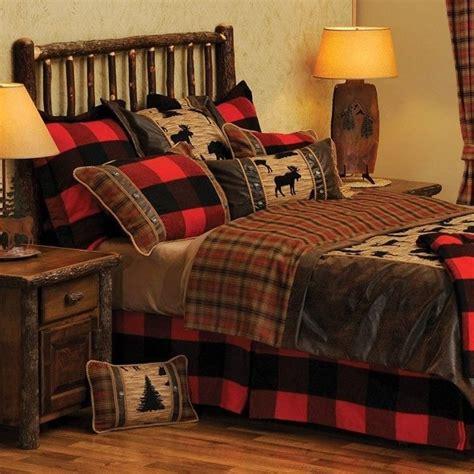 unique log cabin bedding  home plans design