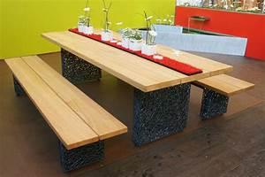 Tisch Und Bank : tisch und bank mit drahtfuss conma gartendesign ~ Eleganceandgraceweddings.com Haus und Dekorationen