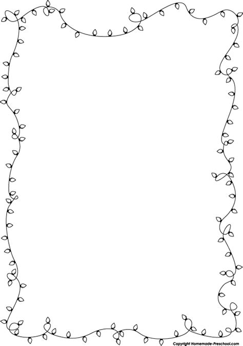 string of christmas lights black and white clipart clipart