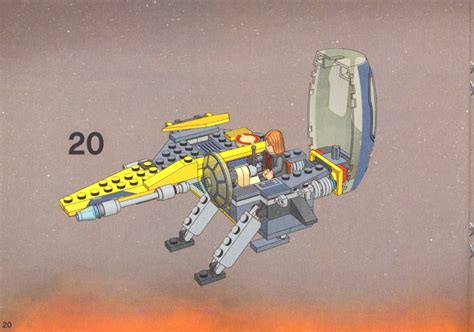 Lego Jedi Starfighter And Vulture Droid Instructions 7256